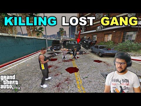 FRANKLIN ATTACK LOST GANG | GTA 5 #72 GAMEPLAY