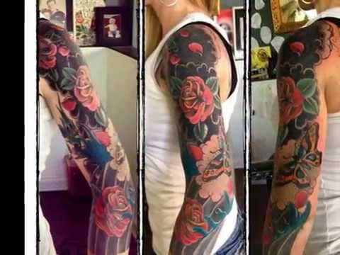 Traditional Tattoo Sleeve Filler