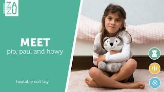Видео: Zazu Paul-Pip-Howy мягкая игрушка-грелка