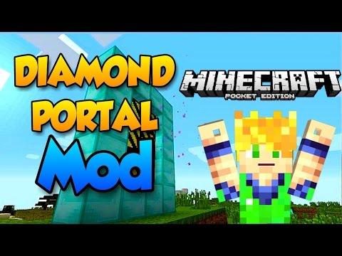 DIAMOND PORTAL MOD - MINECRAFT PE 0.11.0