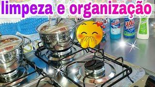 faxina na cozinha: | limpeza  e organização | por casa limpa