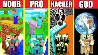 Minecraft Battle: FAMILY WATER SPRINGBOARD BUILD CHALLENGE - NOOB vs PRO vs HACKER vs GOD Animation