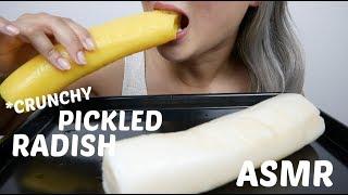 ASMR PICKLED RADISH | *NO TALKING Crunchy Eating Sounds | N.E Let's Eat