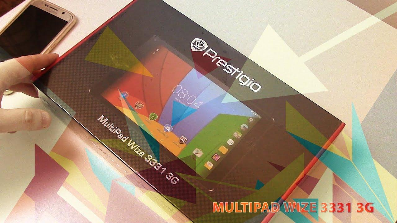 Prestigio MultiPad Wize 3331 3G новинка 2016 - подробная распаковка. Где купить?