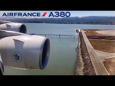 Air France Airbus A380, Paris CDG to San Francisco Intl (USA)