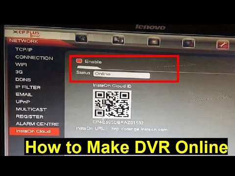 How to Make Cp Plus DVR Online | Enable DVR status Online for Remote View  on Mobile (gCMOB setup)