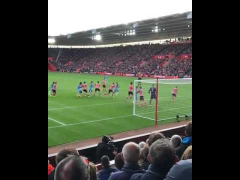 Vincent Kompany Header And Goal Celebrations Vs Southampton Away