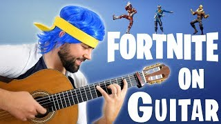 FORTNITE DANCES ON GUITAR thumbnail