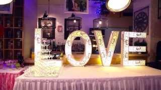 декор свадебного помещения