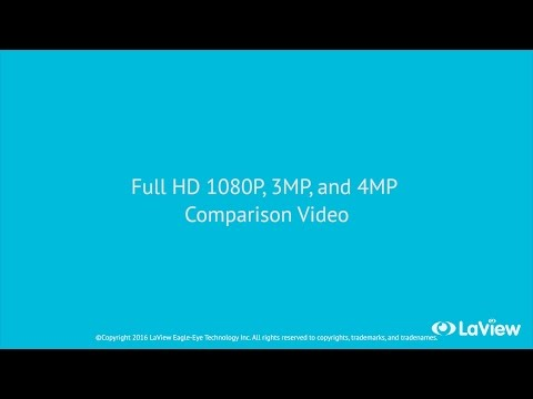 Compare LaView's Full HD 1080P, 3MP and 4MP IP Cameras