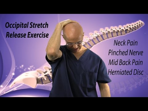 occipital stretch release exercise for instant neck pain