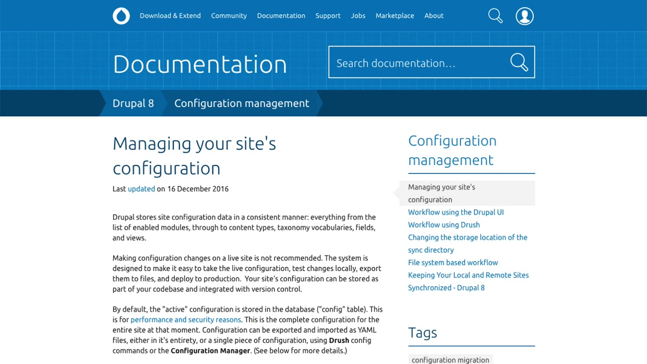 Configuration Workflow for Drupal 8 Sites | Pantheon Docs