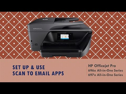 HP Officejet Pro 6960 / 6975 series : Set up & use Scan to Email apps