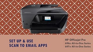 hp officejet pro 6960 6975 series set up use scan to email apps