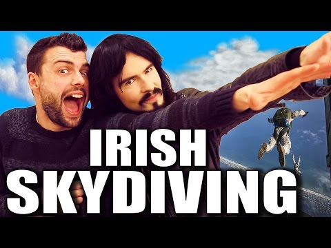 Irish People Try 'Skydiving' For The First Time!!