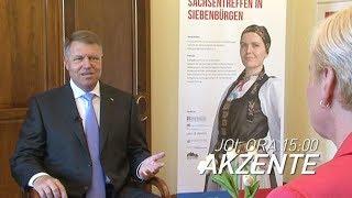 Interviu cu preşedintele Klaus Iohannis, la Akzente, pe TVR1