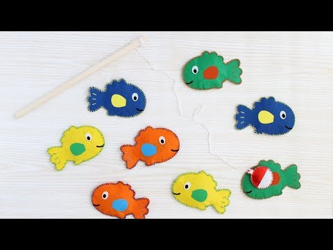 Make A Magnetic Fishing Game For Your Kids