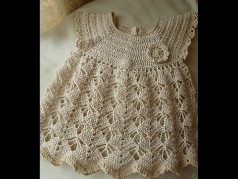 Crochet Patterns For Lacy Crochet Baby Dress Pattern 19 Youtube