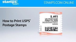 Stamps.com Online - How To Print USPS Postage Stamps