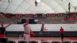 Syracuse Basketball Trick Shot Video-Nick Resavy with Gerry McNamara