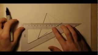 Геометрия - Построение пятиугольника и звезды(Построение правильного пятиугольника с помощью циркуля и линейки., 2012-10-22T17:15:09.000Z)