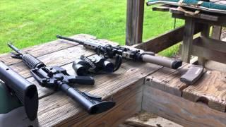 Bench Rest & Off Hand AR-15 Shooting At Spring Valley Gun Range