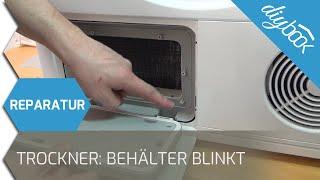 Siemens Wärmepumpentrockner - Behälter leeren blinkt