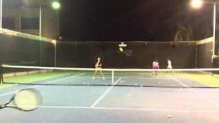 Sophie playing tennis Thumbnail