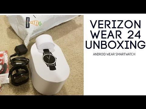 Verizon Wear24 Android Wear Smartwatch unboxing