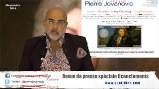 P. Jovanovic - Revue de presse spéciale licenciements (Novembre 2016)