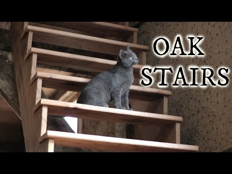 Our timberframe workshop: Oak Stairs