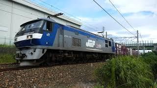 2019/09/29 JR貨物 午前7時台貨物列車4本 5085レにJFEスチール無蓋コンテナ