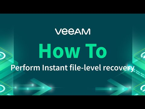 How to perform Instant file-level recovery
