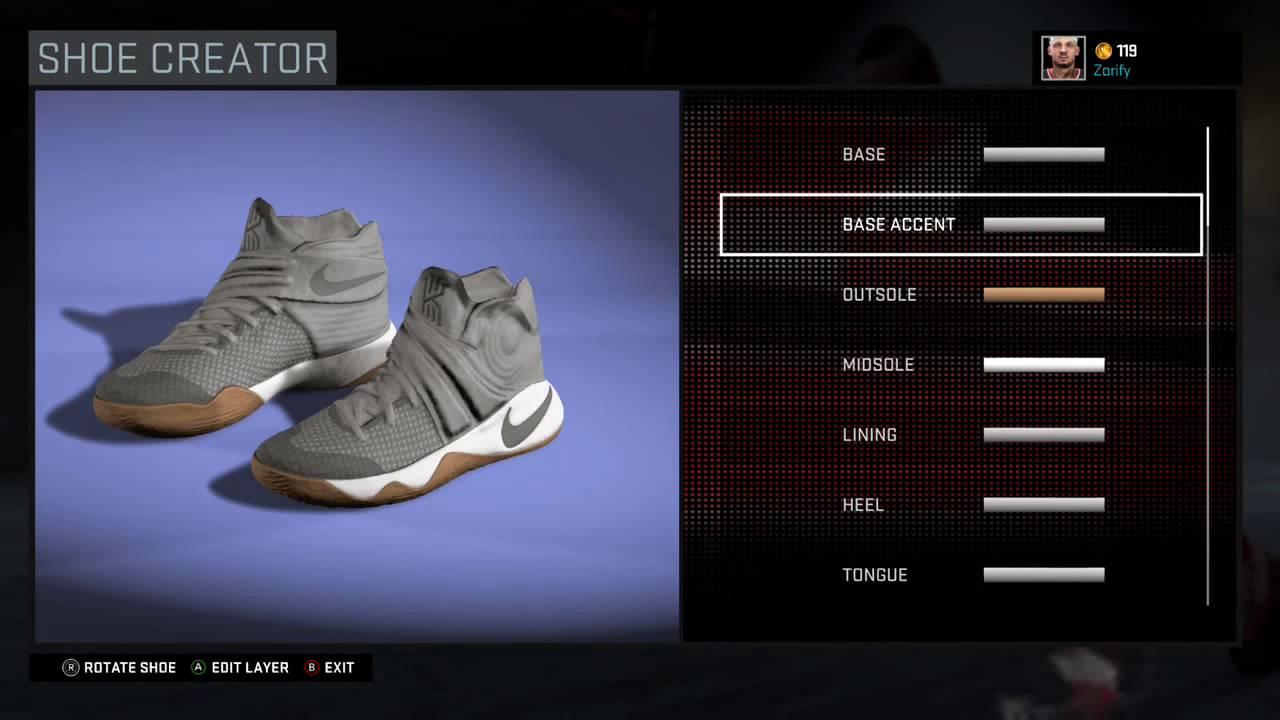 a1423f747e803 NBA 2K16 Shoe Creator - Nike Kyrie 2