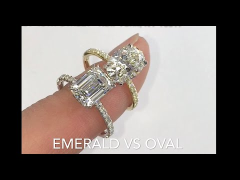 Comparing Emerald Cut  VS Oval Diamond Rings