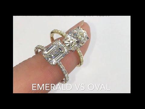 Comparing Emerald Cut Vs Oval Diamond Rings Youtube