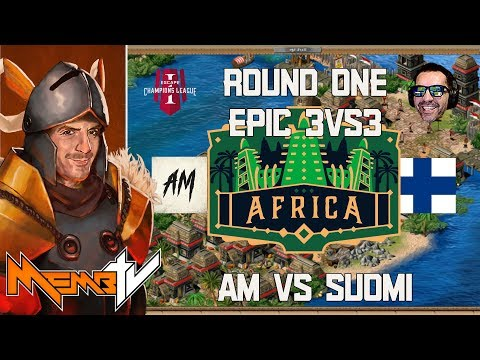 Champions League Age of Empires - Africa 3v3  aM vs Suomi - Incredible Series