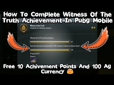 Download EASY WAY TO COMPLETE WITNESS OF THE TRUTH ACHIEVEMENT PUBG  | HOW TO COMPLETE WITNESS OF THE TRUTH