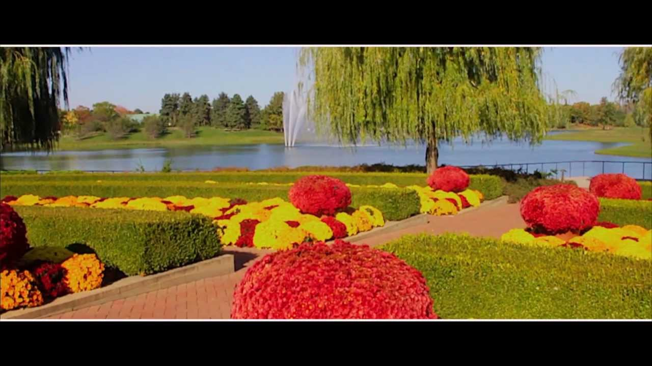 Chicago Botanic Garden  Autumn Colors 2012   YouTube