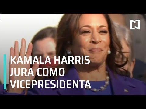 Kamala Harris jura como primera vicepresidenta de EEUU - Las Noticias