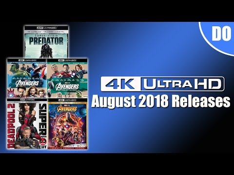 August 2018 4K Ultra HD Blu-ray Releases