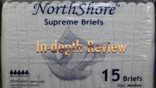 NorthShore™  Supreme Briefs Adult Diaper In-Depth Review #incontinence #adultdiaper