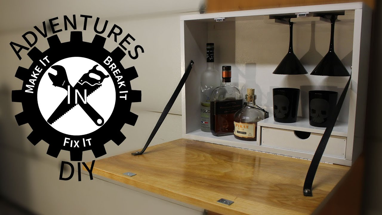 Making A Wall Mounted Bar - YouTube