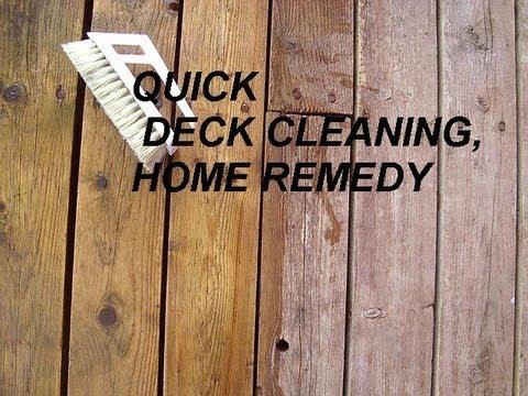 Chlorine Bleach On Wood Deck