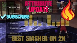 NBA 2K17 MyPARK - Attribute Update #1 jumpshot & Animations Best Slasher built!