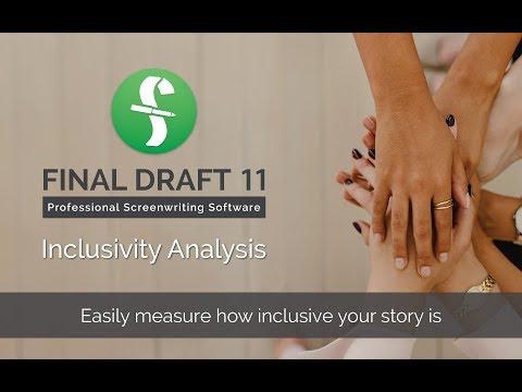 Inclusivity Analysis in Final Draft 11