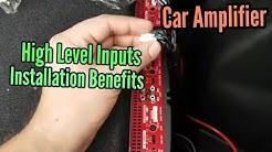 High Level Inputs For Car Amplifiers   NO Audio Converter Required   DIY