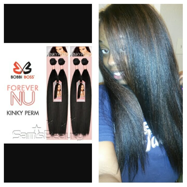 2fe67e8570c6b4 Bobbi Boss Kinky Straight  20 Hair Style and Quick Weave Tutorial ...