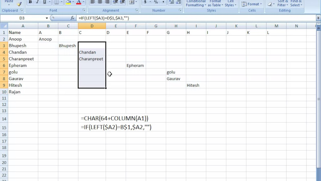 how to use if condition in excel