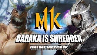 Baraka Is Shredder! Mortal Kombat 11 - Online Matches (Stress Test)